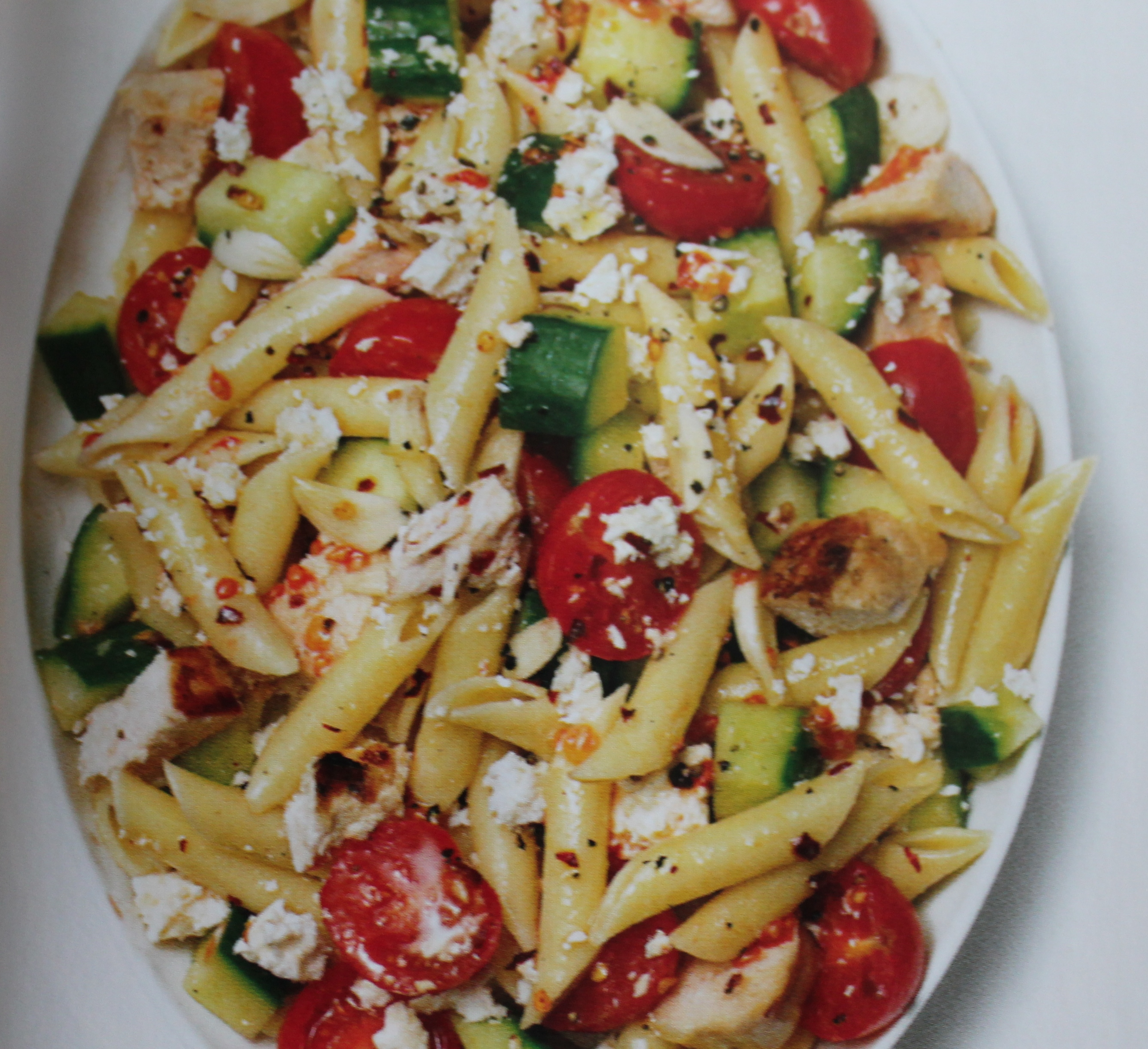 Chicken Pasta Salad w/Cherry Tomatoes | Quilts, Bags ...