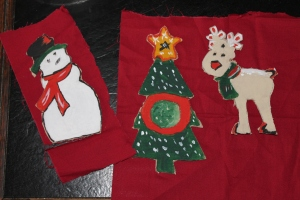 Cut out ornaments.