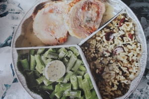 Turkey, Green Bean and Cranberry Rice