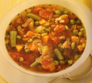 Beef Veggies & Barley Soup