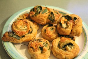 My Spinach-Cheese Swirls