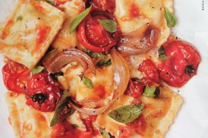 Tomato Ravioli w/ Fresh Basil