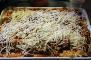 Cover you Ziti with cheese!