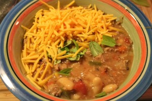 My turkey chili!