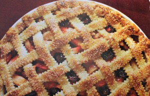 Apple-Cherry Lattice Pie